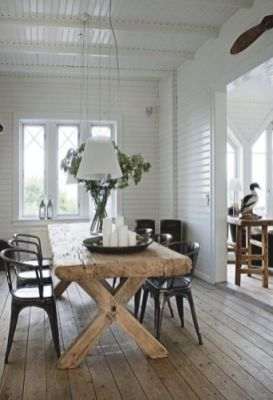 Amazing dinning room ideas with natural farmhouse style 27