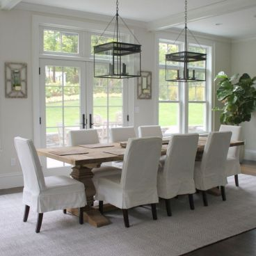 Amazing dinning room ideas with natural farmhouse style 28