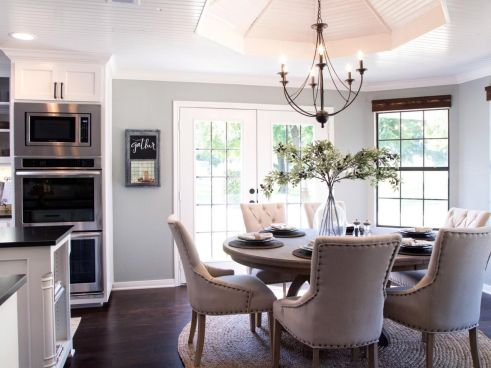 Amazing dinning room ideas with natural farmhouse style 30