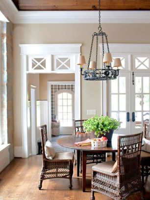 Amazing dinning room ideas with natural farmhouse style 37