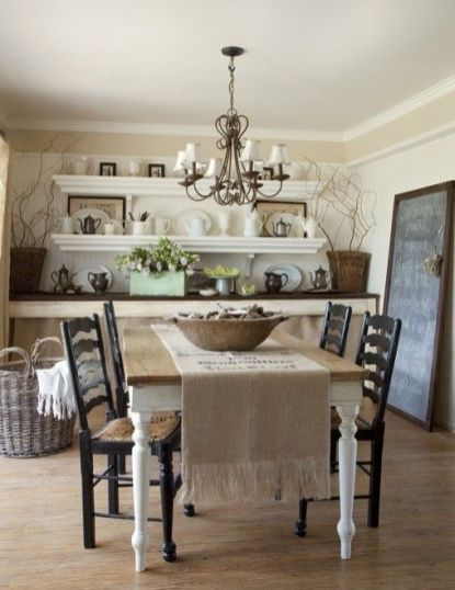 Amazing dinning room ideas with natural farmhouse style 40