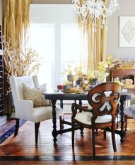 Amazing dinning room ideas with natural farmhouse style 41