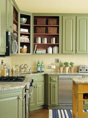 Creative kitchen cabinets makeover ideas 36