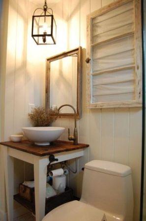 Fabulous small farmhouse bathroom design ideas 40