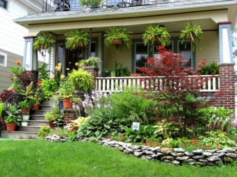 Great front yard rock garden ideas 07
