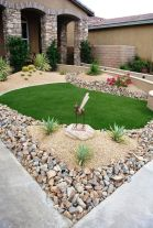 Great front yard rock garden ideas 19