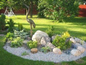 Great front yard rock garden ideas 46