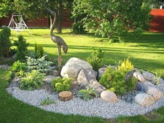Great front yard rock garden ideas 46