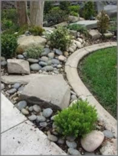 Great front yard rock garden ideas 47