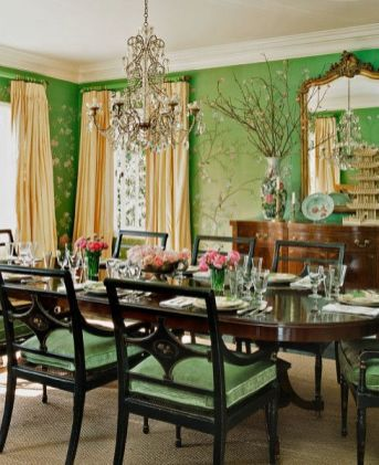 Modern spring dining room decoration ideas 07