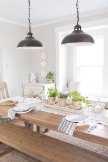 Modern spring dining room decoration ideas 10