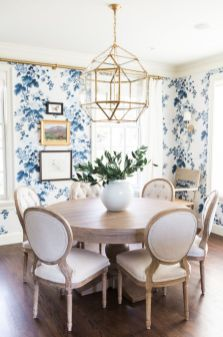 Modern spring dining room decoration ideas 24