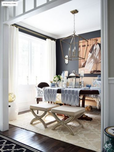 Modern spring dining room decoration ideas 29