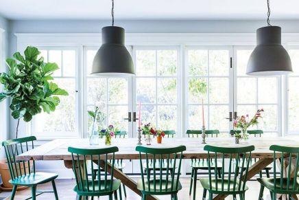 Modern spring dining room decoration ideas 30