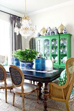 Modern spring dining room decoration ideas 31