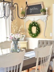 Modern spring dining room decoration ideas 38