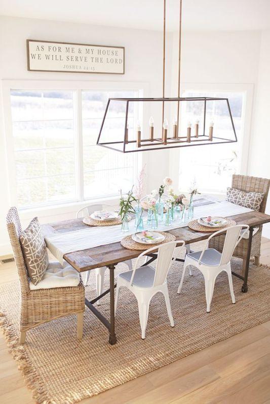 Modern spring dining room decoration ideas 47