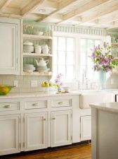 Popular modern french country kitchen design ideas 17