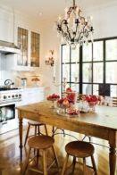 Popular modern french country kitchen design ideas 18