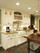 Popular modern french country kitchen design ideas 34