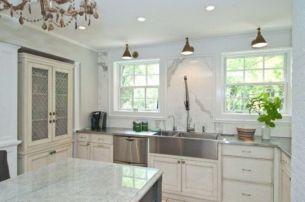 Popular modern french country kitchen design ideas 38