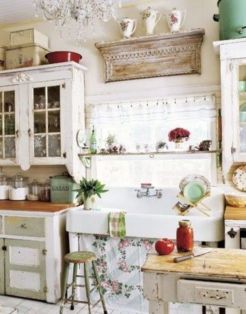 Popular modern french country kitchen design ideas 49