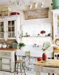 Popular modern french country kitchen design ideas 49