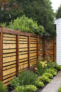Popular privacy fence ideas 42