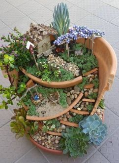 Stunning fairy garden decor ideas 02