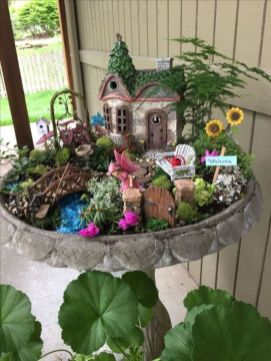 Stunning fairy garden decor ideas 08