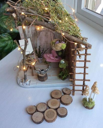 Stunning fairy garden decor ideas 11