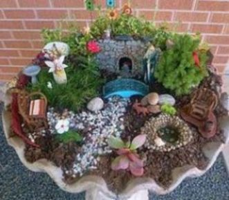 Stunning fairy garden decor ideas 12