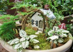 Stunning fairy garden decor ideas 17