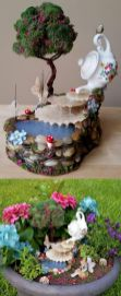 Stunning fairy garden decor ideas 27