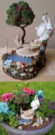 Stunning fairy garden decor ideas 27
