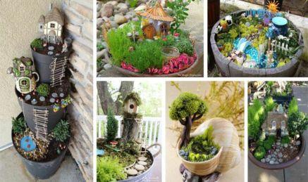 Stunning fairy garden decor ideas 31