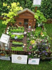 Stunning fairy garden decor ideas 32