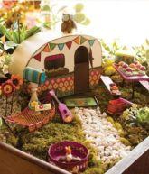 Stunning fairy garden decor ideas 50