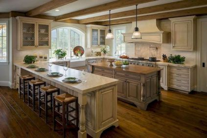 Stunning farmhouse kitchen cabinet ideas 19