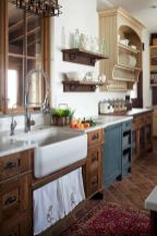 Stylish modern farmhouse kitchen makeover decor ideas 04