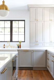 Stylish modern farmhouse kitchen makeover decor ideas 13
