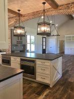 Stylish modern farmhouse kitchen makeover decor ideas 17