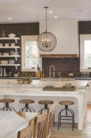 Stylish modern farmhouse kitchen makeover decor ideas 20