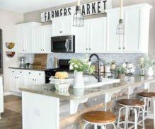 Stylish modern farmhouse kitchen makeover decor ideas 25