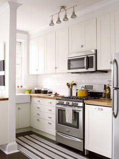Stylish modern farmhouse kitchen makeover decor ideas 30