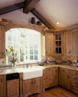 Stylish modern farmhouse kitchen makeover decor ideas 32