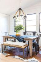 Stylish modern farmhouse kitchen makeover decor ideas 33