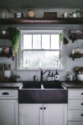 Stylish modern farmhouse kitchen makeover decor ideas 45