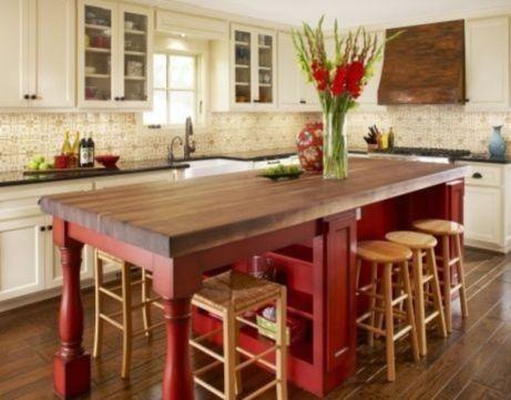 Stylish modern farmhouse kitchen makeover decor ideas 49