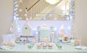 Charming winter wonderland party decoration kids ideas 32